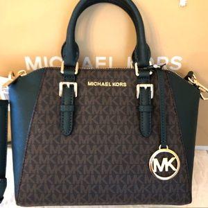 Michael Kors Bags - Michael KORS Ciara Racing Green Messenger Bag